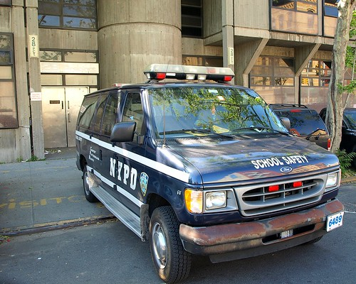 P028s NYPD School Safety Van, Police Station Precinct 28, Harlem, New York City | by jag9889