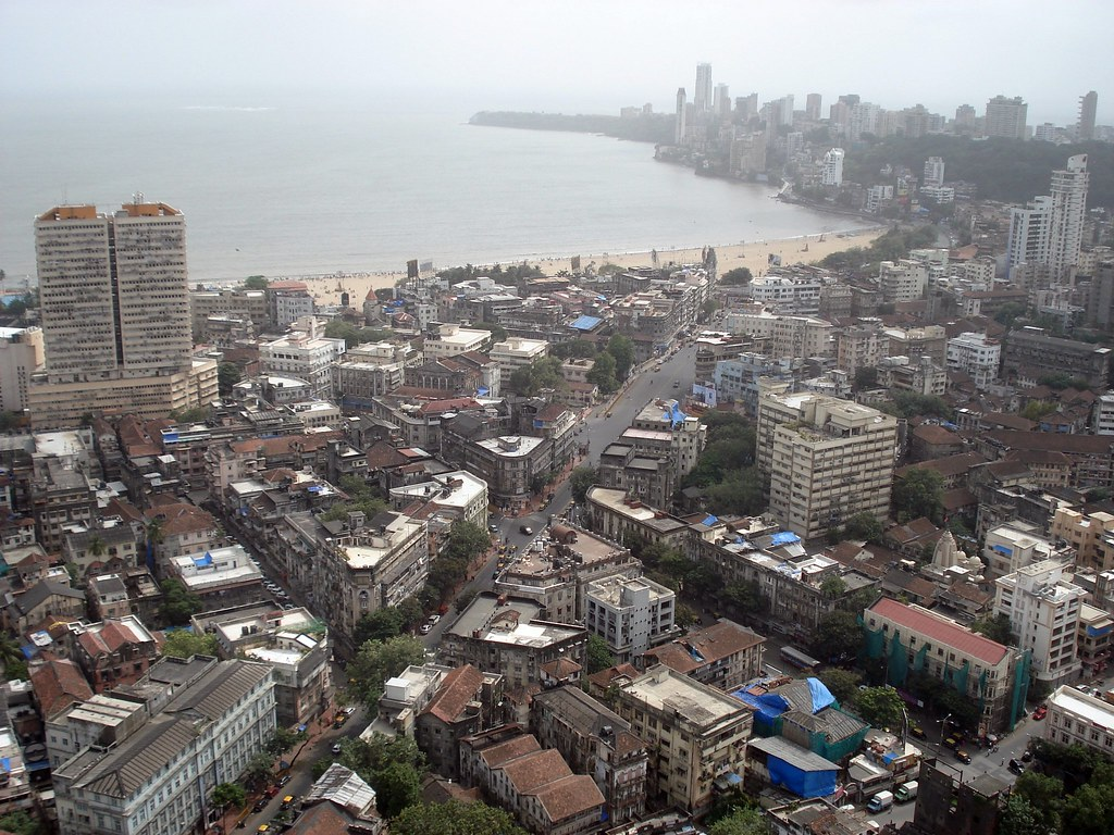 Panchratna Buidling And Chaupati View Mumbai Town View