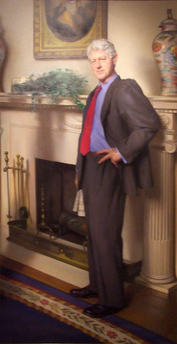 Bill Clinton Portrait In National Portrait Gallery Has
