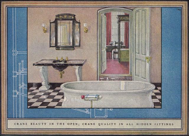 1925 crane bathroom found in american builder magazine for Home builder magazines