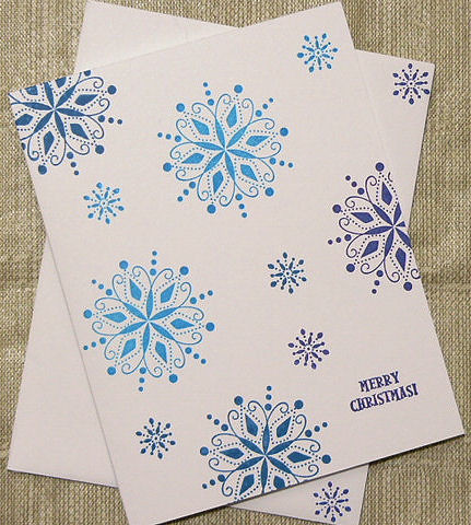 Randome Snowflake Christmas Card | Handmade and handstamped … | Flickr