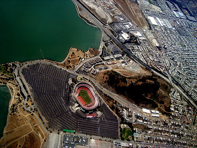 Aerial Photography: Candlestick Park, San Francisco, CA ...