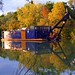 Dredging barge on the Erie Canal