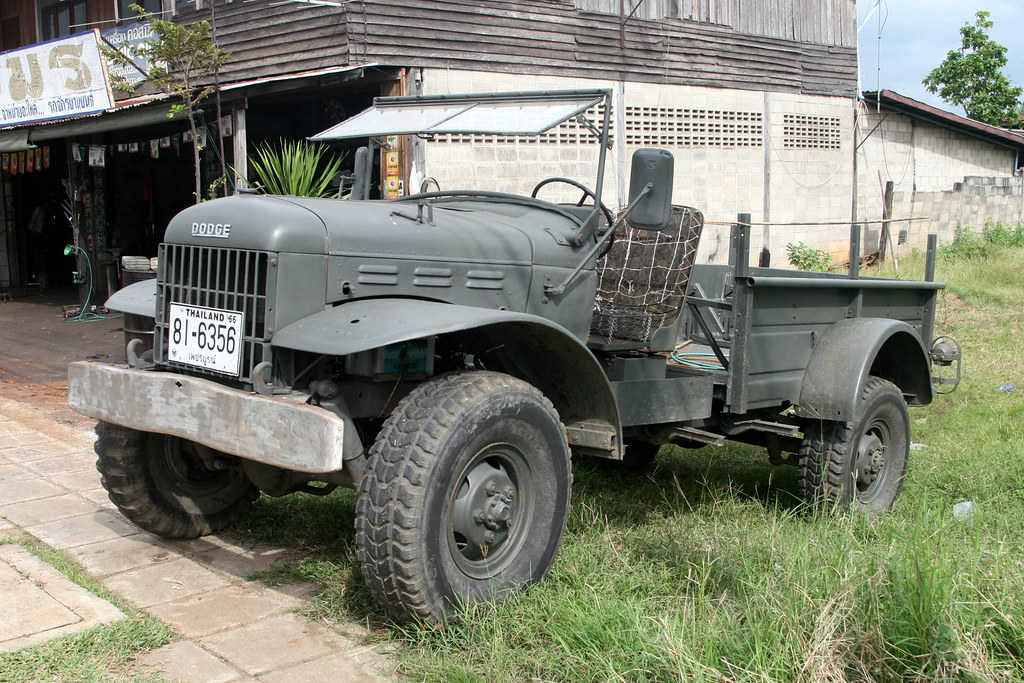 old dodge power wagon army truck phu toei wichian buri p flickr. Black Bedroom Furniture Sets. Home Design Ideas