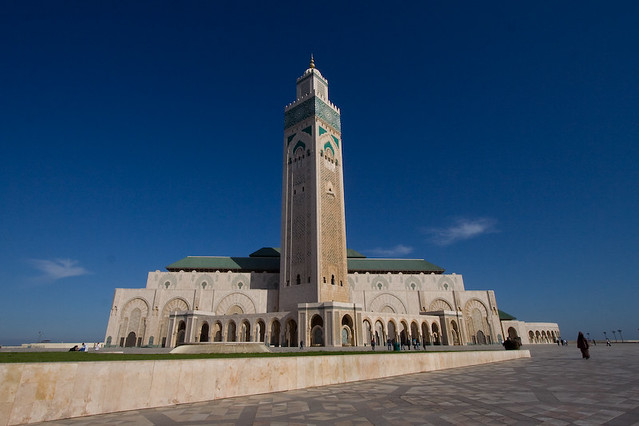 Mosqu e hassan ii casablanca une prise de vue au grand for Mosquee hassan 2 architecture