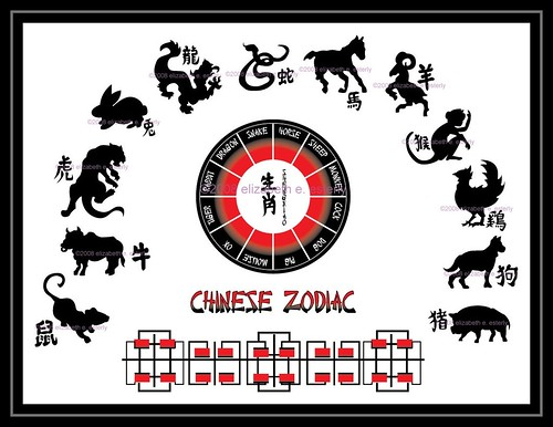 tattoo flash chinese zodiac color digital flickr photo sharing. Black Bedroom Furniture Sets. Home Design Ideas