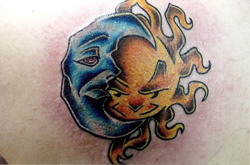 Sun and Moon Tattoo | by Sacred Heart Tattoo, Lincoln NE