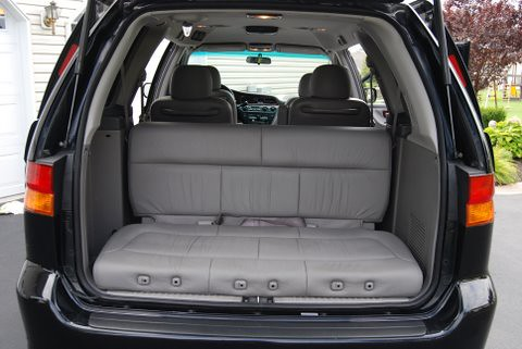3rd row turned as tailgate seat honda odyssey flickr. Black Bedroom Furniture Sets. Home Design Ideas