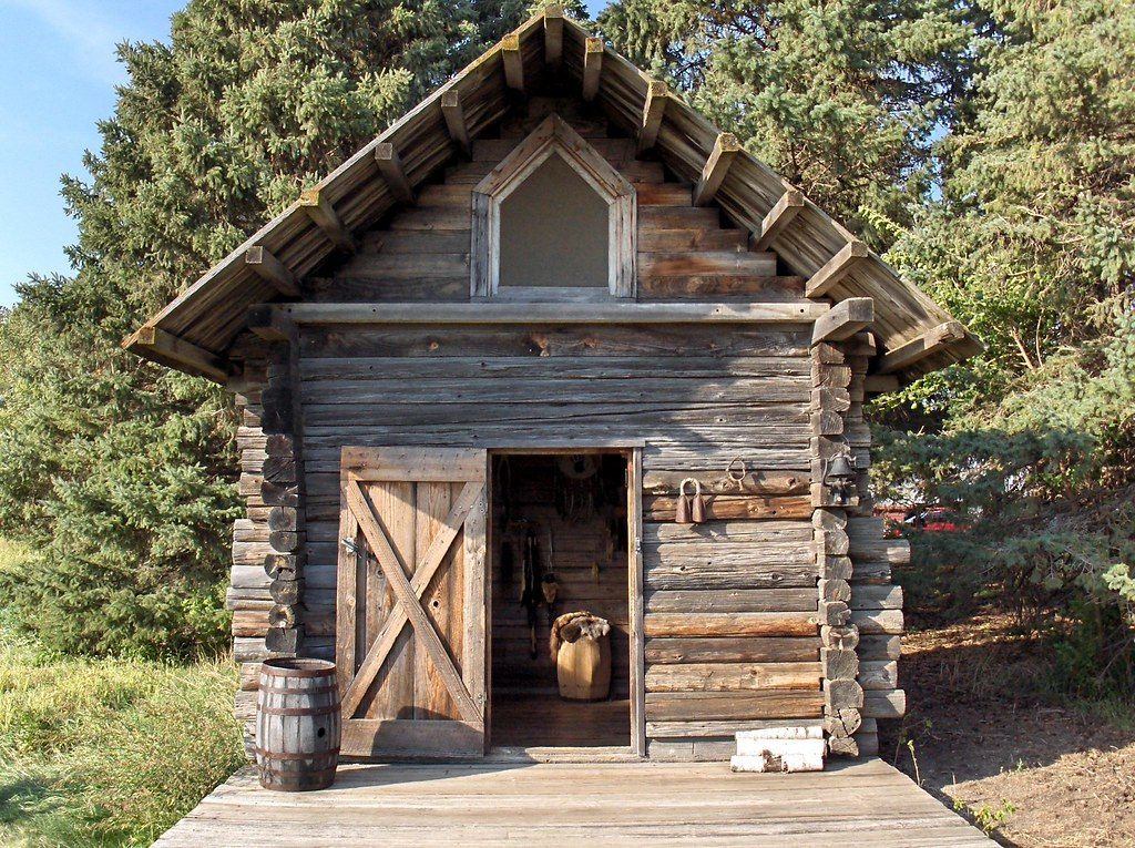 Trapper's Cabin; Sod House on the Prairie; Sanborn, MN ...