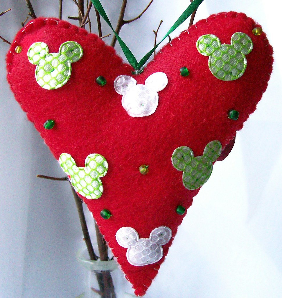 Heart Shaped Christmas Ornaments