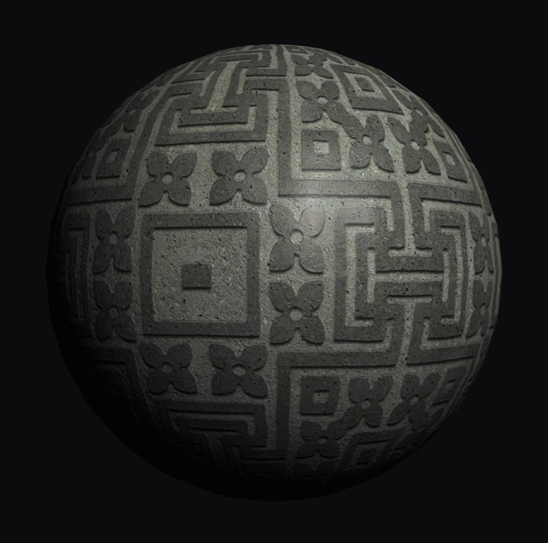 Carved stone texture seamless