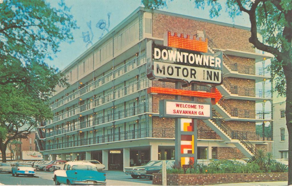 Downtowner motor inn welcome to savannah ga from the for M m motors savannah ga