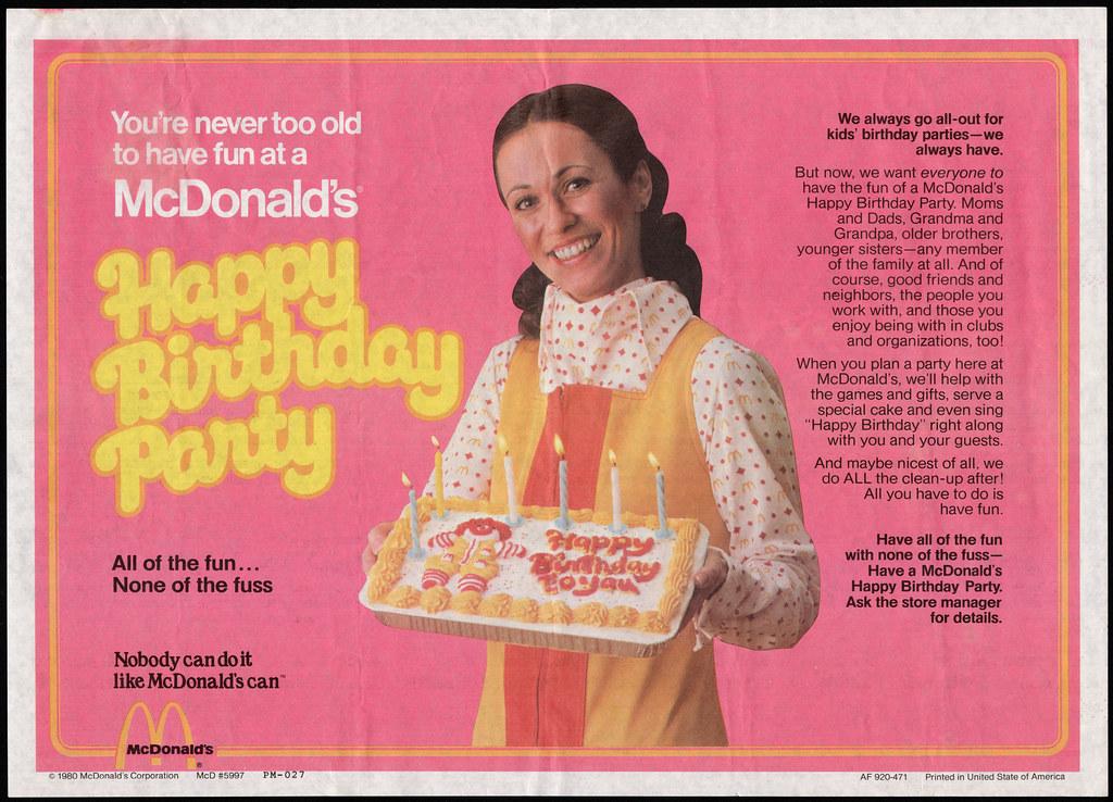 Ronald Mcdonald Birthday Cake