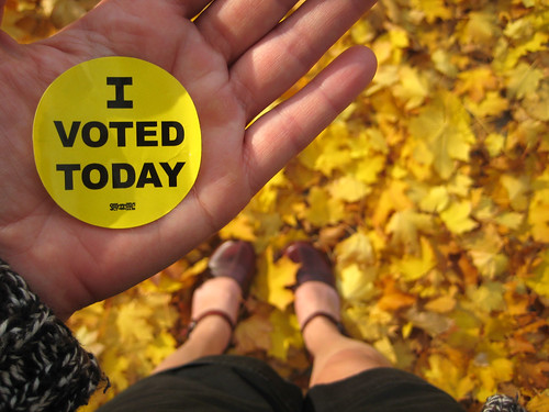 I voted today (wearing shorts!!!) | by Angela Richardson - Artist