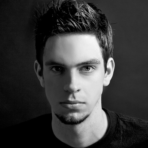 Cute Guy in black and white Portrait HOT | Flickr - Photo ...