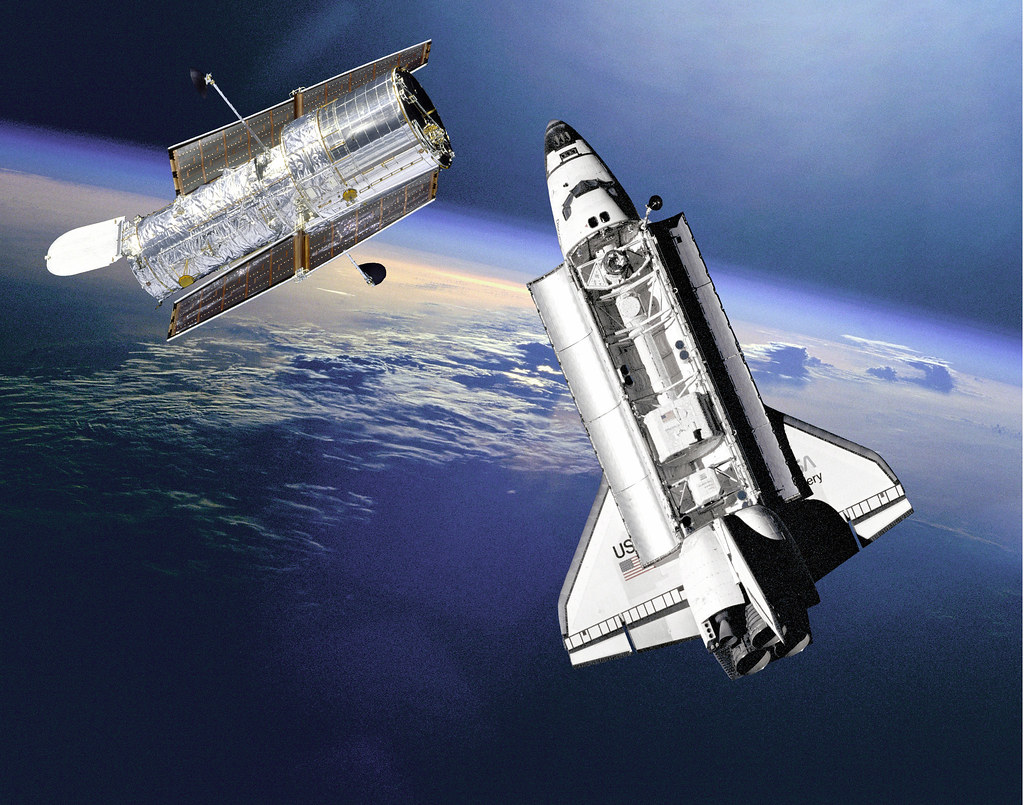 space shuttle atlantis hubble -#main