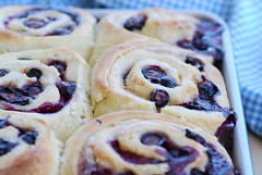 mom's blueberry sweet rolls | by Food Blogga