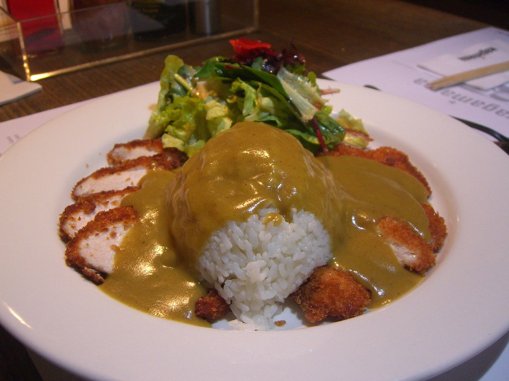 chicken katsu curry with rice
