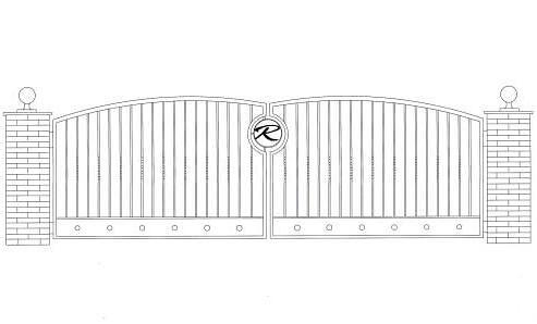 Driveway Gate Design - Cad Drawing   Driveway gate that we ...