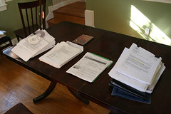 giant stack of resumes | by woodleywonderworks