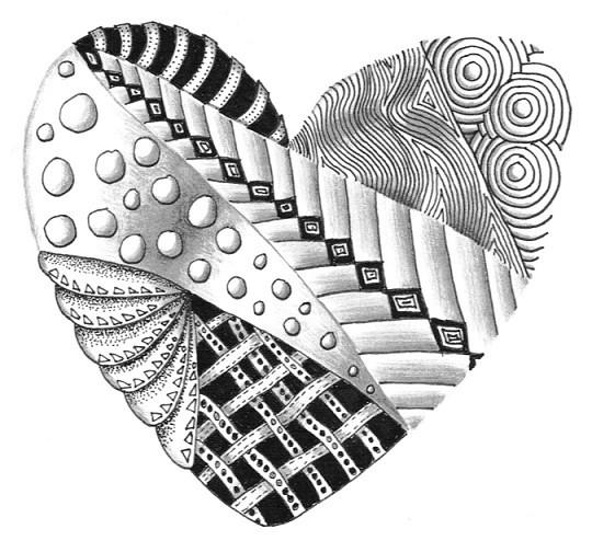 zentangle heart hand drawn zentangle that i made up kay flickr. Black Bedroom Furniture Sets. Home Design Ideas