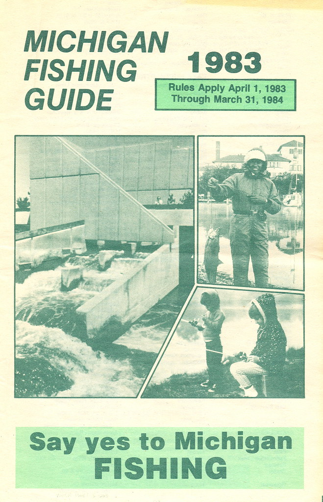 1983 michigan vintage fishing license law digest guide for How much is a fishing license in michigan