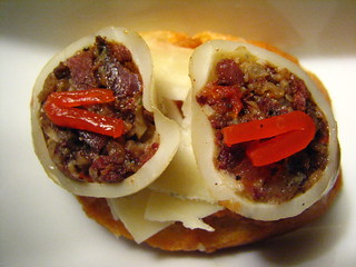 Spanish Pintxos Made @ Home - Morcilla-Stuffed Squid with Manchego Pintxos | by SeppySills