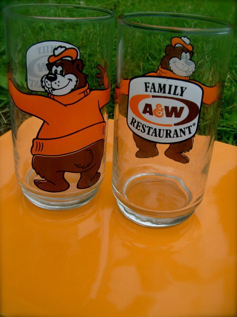 A W Root Beer Glasses