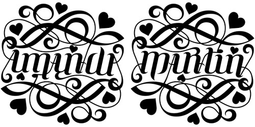 amanda martin ambigram a custom ambigram of the name am flickr. Black Bedroom Furniture Sets. Home Design Ideas