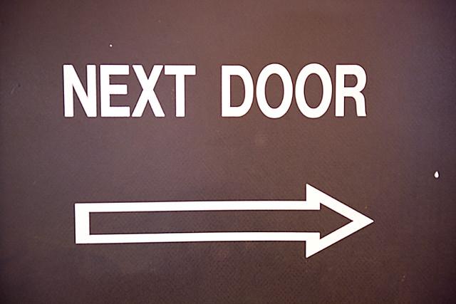 ... Next Door Arrow Sign | by Roche Photo & Next Door Arrow Sign | check out my website follow me on Facu2026 | Flickr