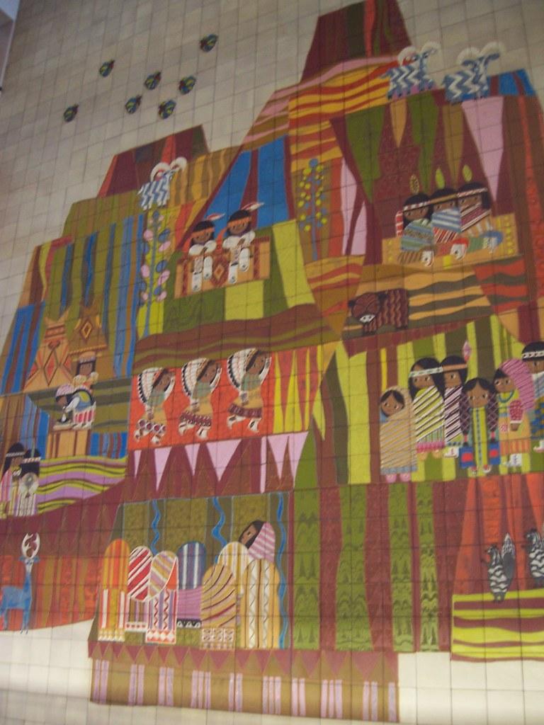 Contemporary resort mary blair 39 s fantastic murals for Contemporary resort mural