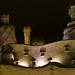 The magics of Gaudi in the night of Barcelona
