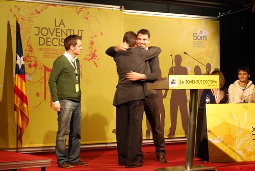 Artur Mas, en l'acte d'homenatge a Marc Pifarré i Jordi Cuminal, pel seu servei al País i a la JNC