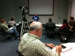 T-rave talking about blogging #podcamptopeka | by David Lee King