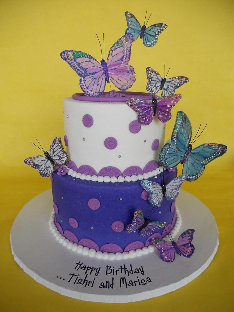Pretty Purple Butterflies Birthday Cake Amy Stella Flickr