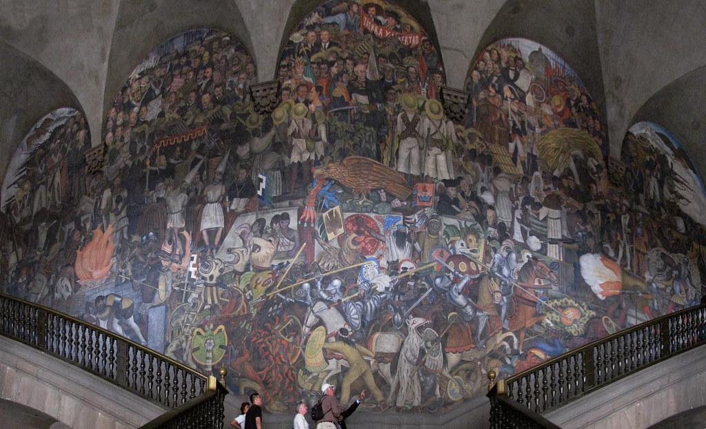 De la conquista a 1930 al 2008 corr jame alguien por for Un mural de diego rivera