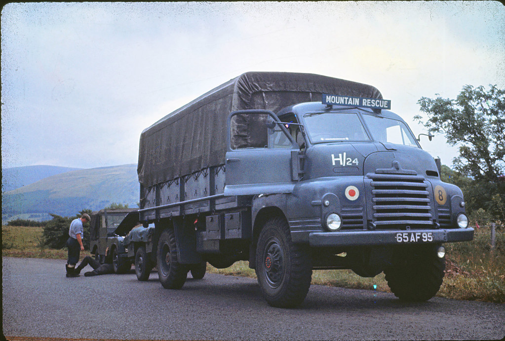 Raf Mountain Rescue Team Mid Wales 1960 61 A Bedford