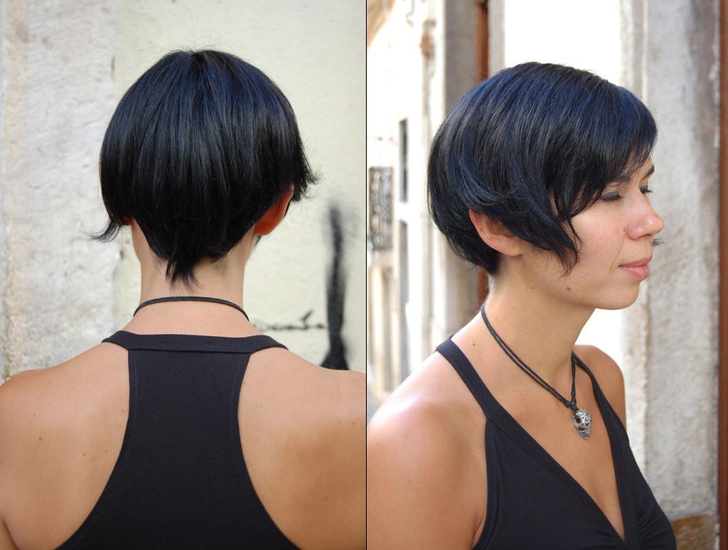 Bright Blue Short Hair Hair Color Dark Blue Short