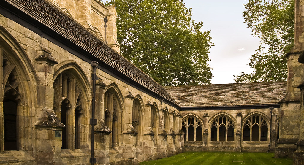 The 14th Century Cloisters Of Winchester College Chapel In