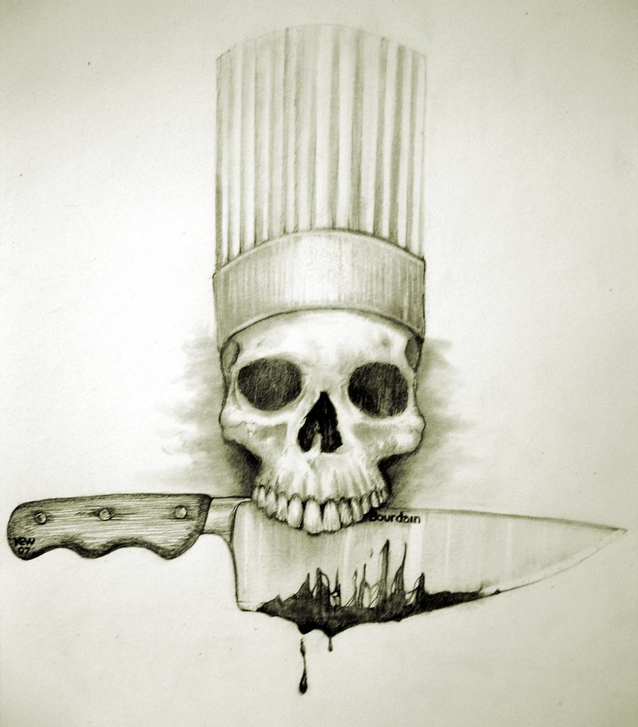 cfod bourdain photo from scetchbook drawn by kevin wofford flickr skeleton clip art image skeleton clip art svg