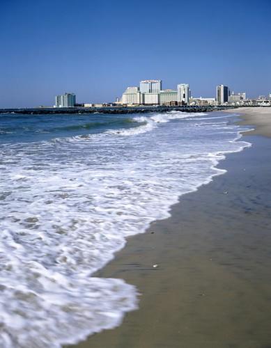 Atlantic city from brigatine beach brigantine beach for Brigantine fishing report