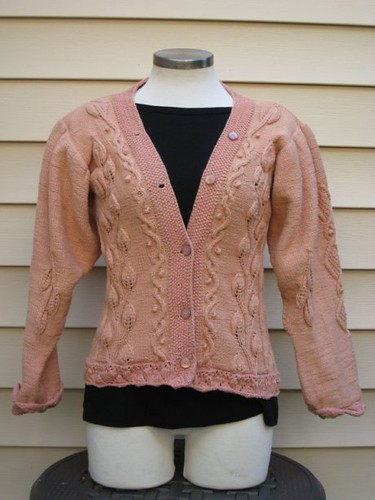 Jim's Perfect Peach Cardigan | by ImagiKnit