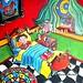 Goodnight 16x16 acrylic - Karen Sloan