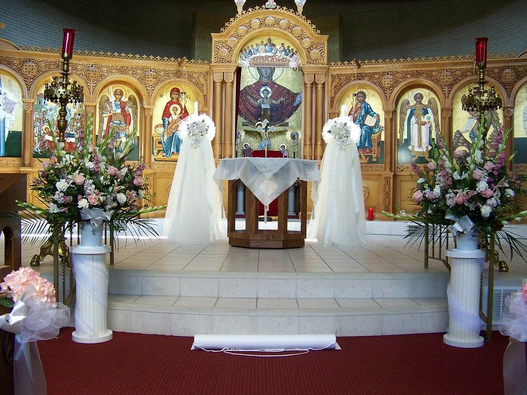 Simple Wedding Altar Decorations