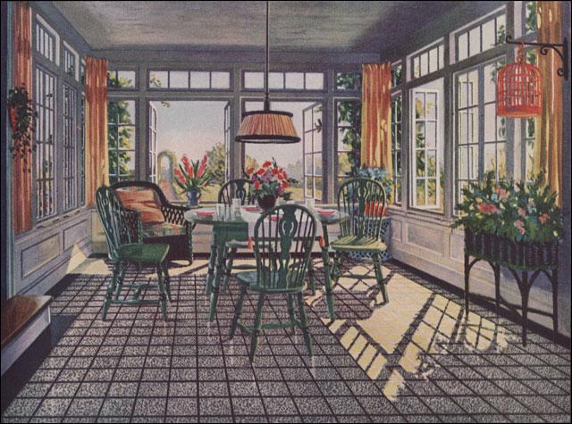 1924 Sun Room Blabon Linoleum Ad For 1924 This Is A