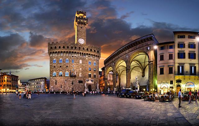 Florencja - Piazza della Signoria i okolice