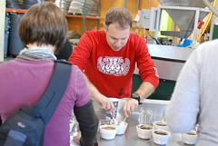 Doug Zell tearing into the cupping. | by Intelligentsia Coffee