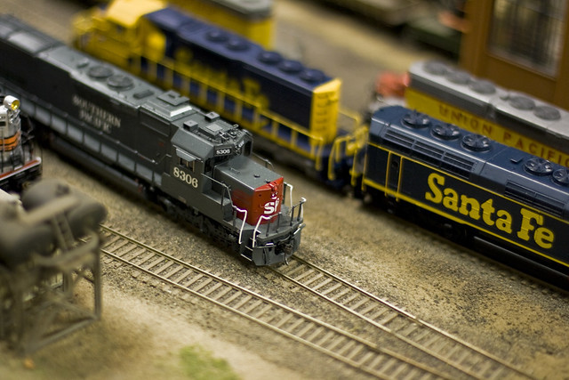 Southern pacific model train engine