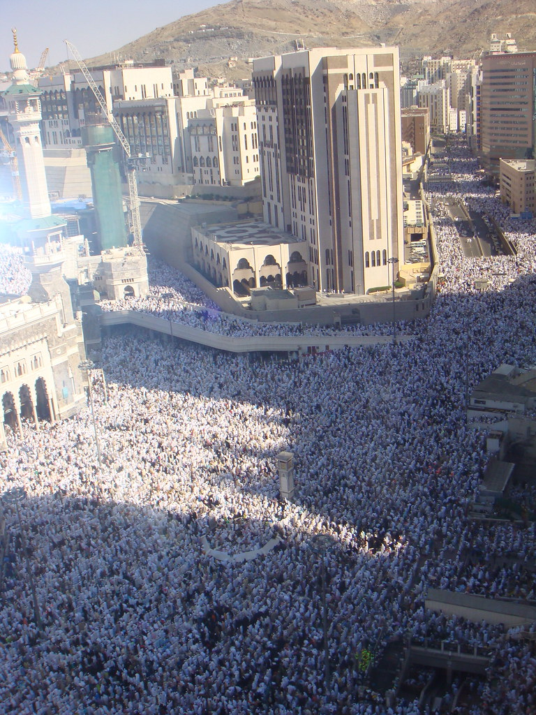Makkah's incredibly crowded streets during Hajj. Credit: aljazeeraenglish via Flickr
