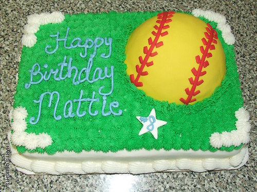 Softball Themed Birthday Cakes